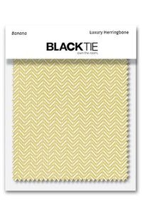 Banana Herringbone Fabric Swatch