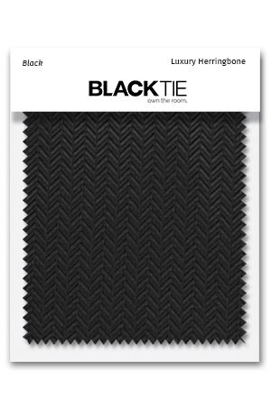 Black Herringbone Fabric Swatch