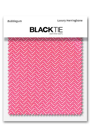 Bubblegum Herringbone Fabric Swatch