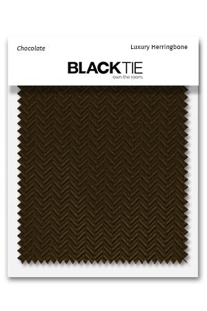 Chocolate Herringbone Fabric Swatch