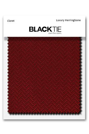 Claret Herringbone Fabric Swatch