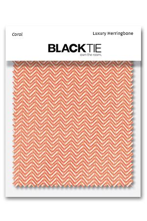Coral Herringbone Fabric Swatch