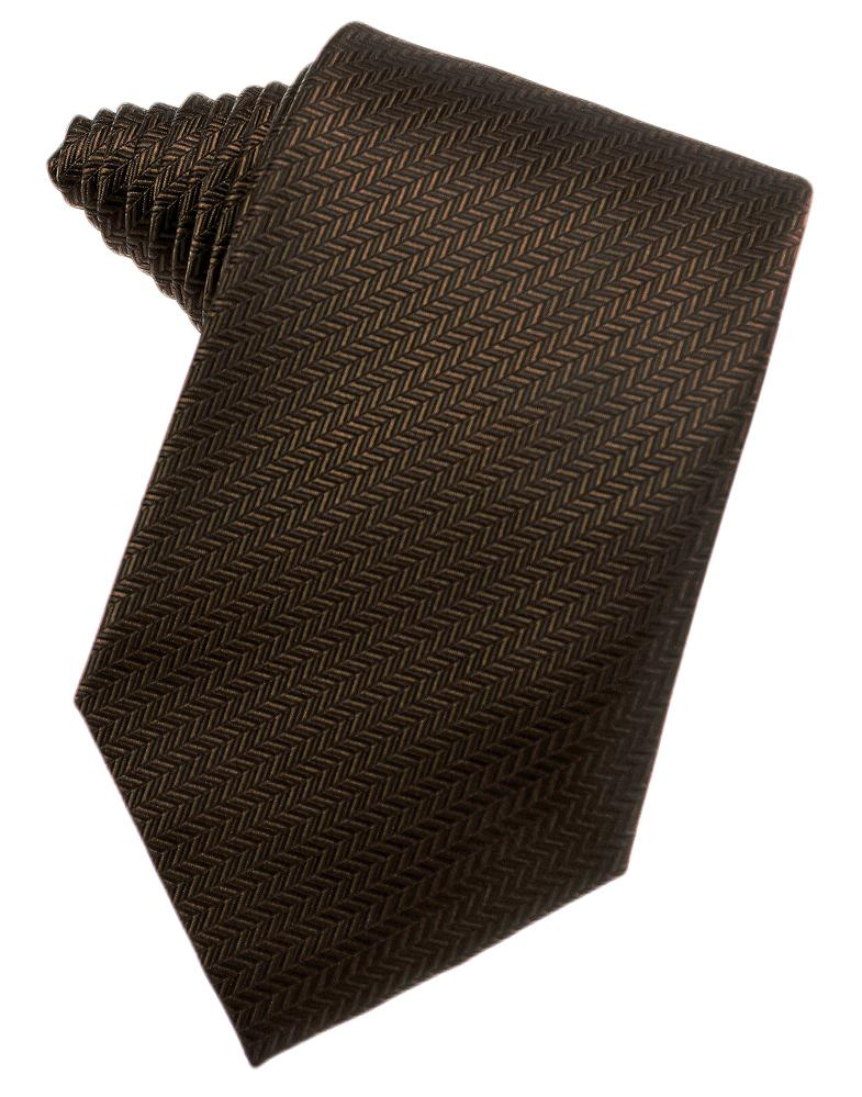 Chocolate Herringbone Necktie
