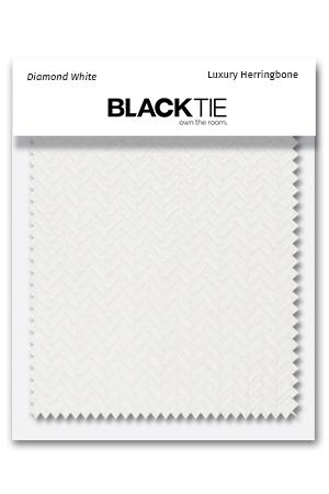 Diamond White Herringbone Fabric Swatch