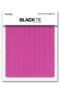 Fuchsia Herringbone Fabric Swatch
