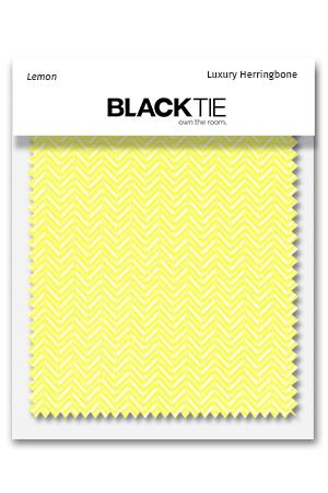 Lemon Herringbone Fabric Swatch