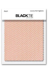 Peach Herringbone Fabric Swatch