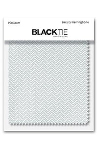 Platinum Herringbone Fabric Swatch