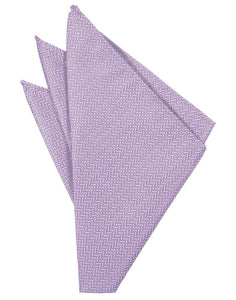 Lavender Herringbone Pocket Square