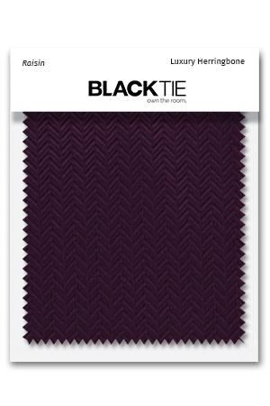 Raisin Herringbone Fabric Swatch