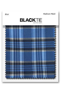 Blue Madison Plaid Fabric Swatch