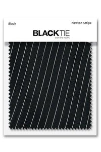 Black Newton Stripe Fabric Swatch