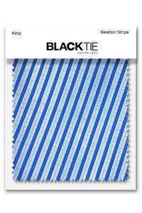 Navy Newton Stripe Fabric Swatch