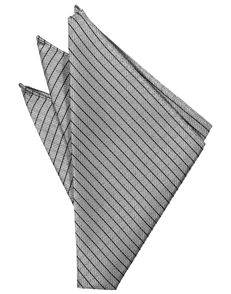 Silver Palermo Pocket Square