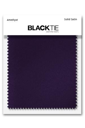 Amethyst Luxury Satin Fabric Swatch