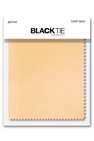 Apricot Luxury Satin Fabric Swatch