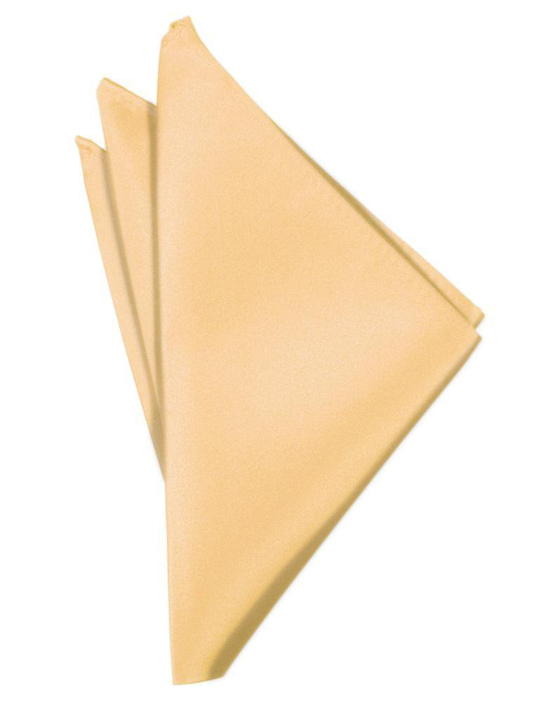 Apricot Luxury Satin Pocket Square