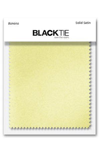 Banana Luxury Satin Fabric Swatch