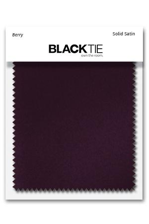 Berry Luxury Satin Fabric Swatch
