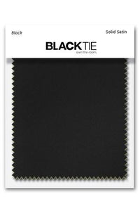 Black Luxury Satin Fabric Swatch