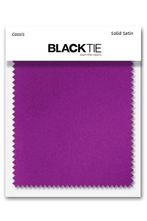 Cassis Luxury Satin Fabric Swatch