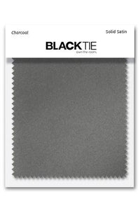 Charcoal Luxury Satin Fabric Swatch
