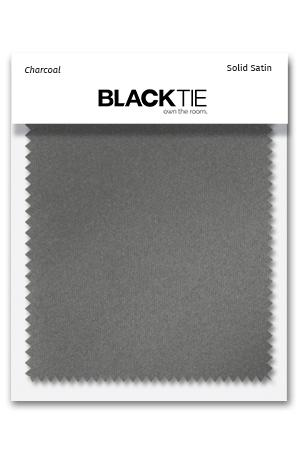 Charcoal Luxury Satin Fabric Swatch Blacktie Com