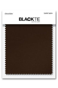 Chocolate Luxury Satin Fabric Swatch