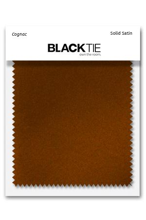 Cognac Luxury Satin Fabric Swatch