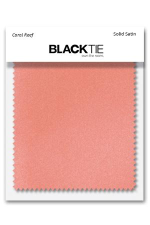 Coral Reef Luxury Satin Fabric Swatch