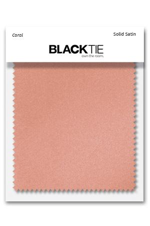 Coral Luxury Satin Fabric Swatch
