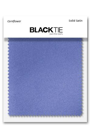 Cornflower Luxury Satin Fabric Swatch