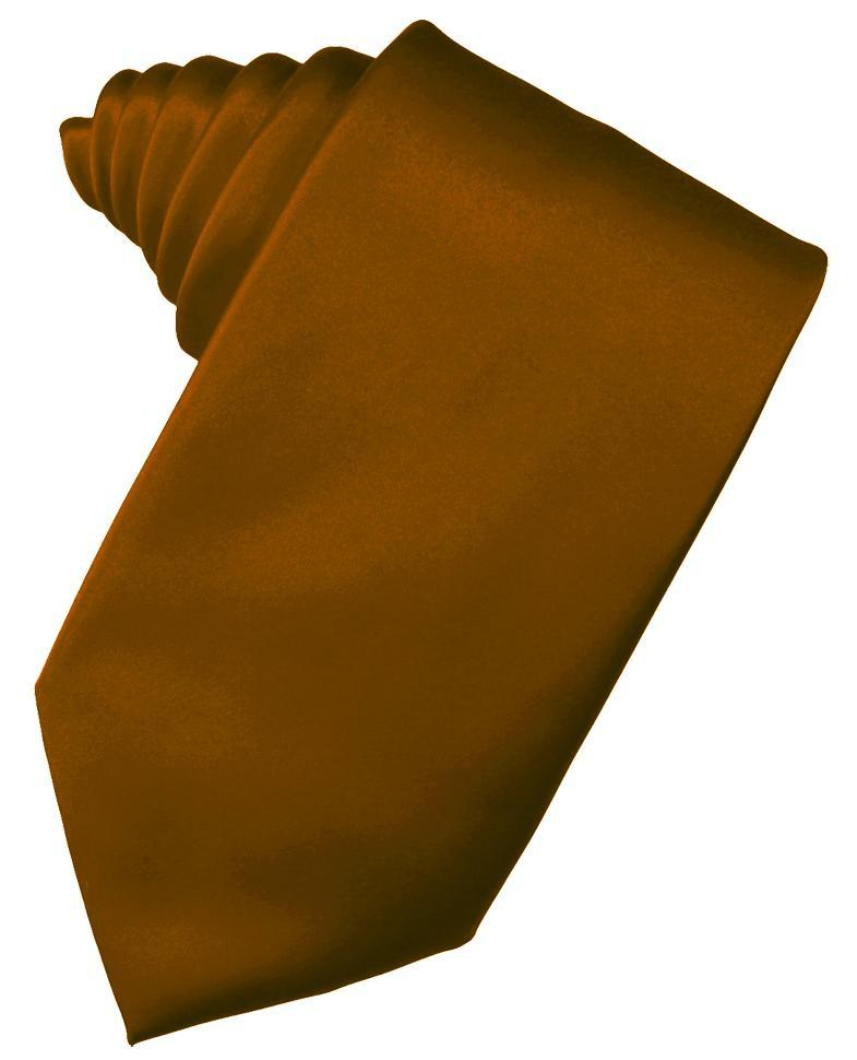Cognac Luxury Satin Necktie