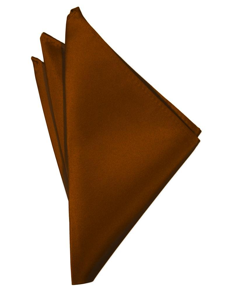 Cognac Luxury Satin Pocket Square