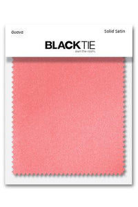 Guava Luxury Satin Fabric Swatch