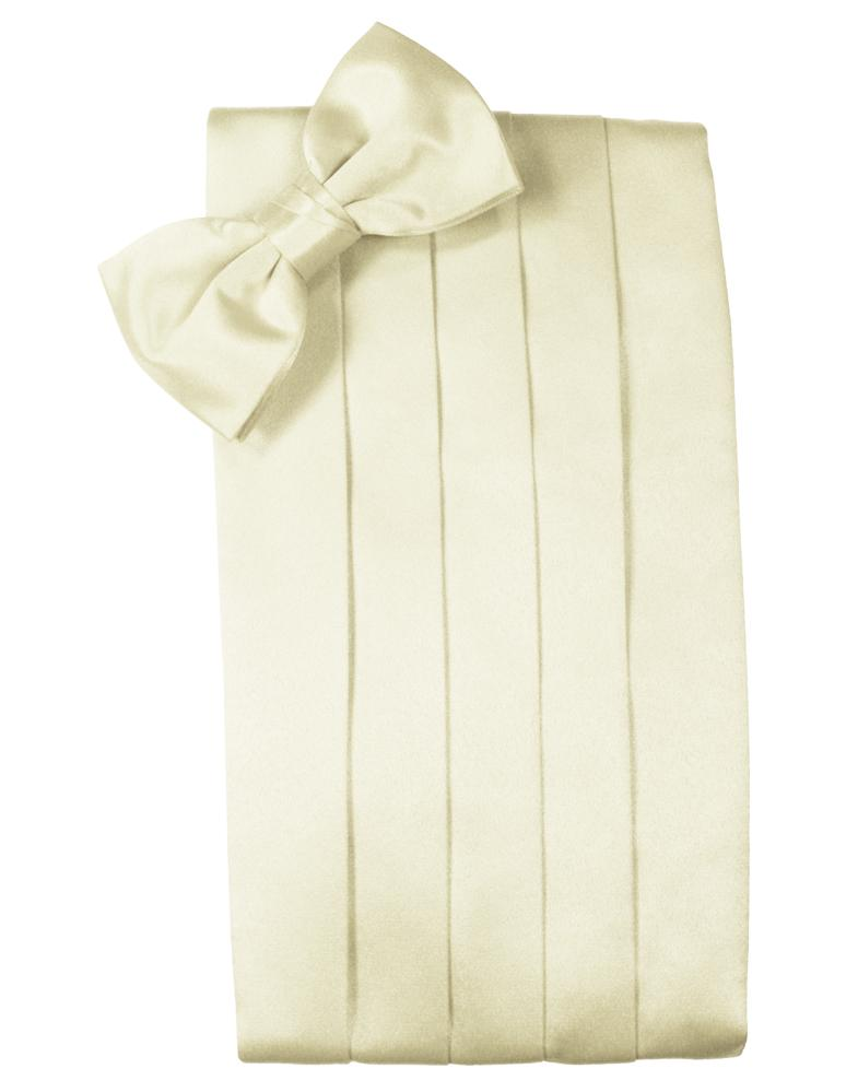 Ivory Luxury Satin Cummerbund