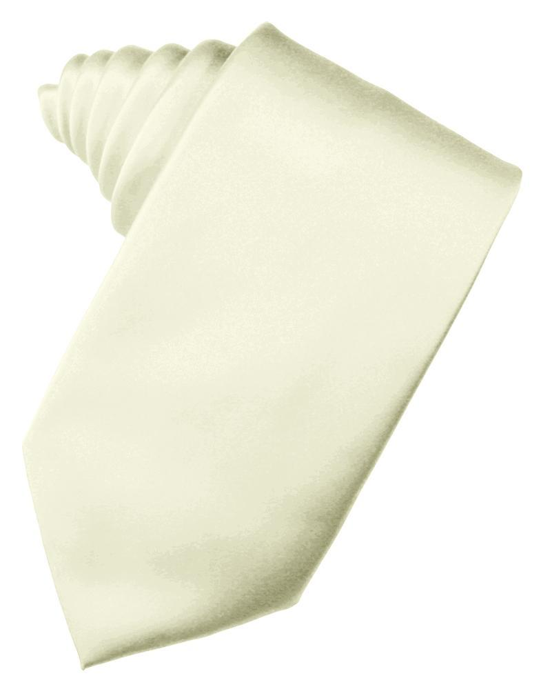 Ivory Luxury Satin Necktie