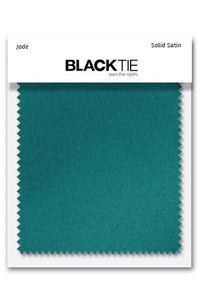 Jade Luxury Satin Fabric Swatch