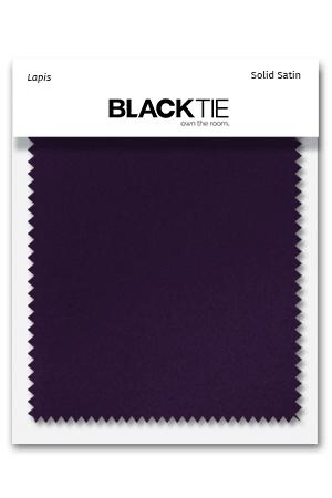 Lapis Luxury Satin Fabric Swatch