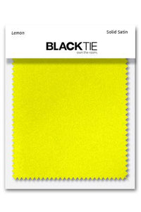 Lemon Luxury Satin Fabric Swatch