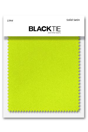 Lime Luxury Satin Fabric Swatch