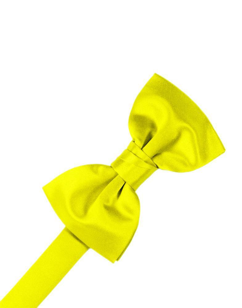 Lemon Luxury Satin Bow Tie