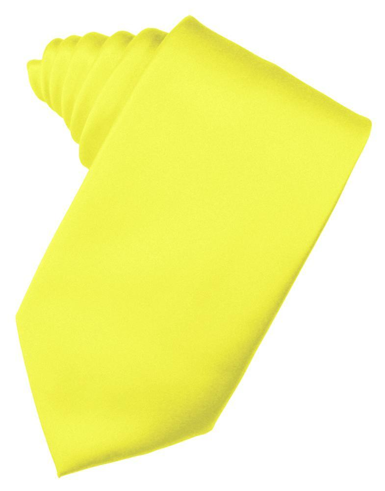 Lemon Luxury Satin Necktie