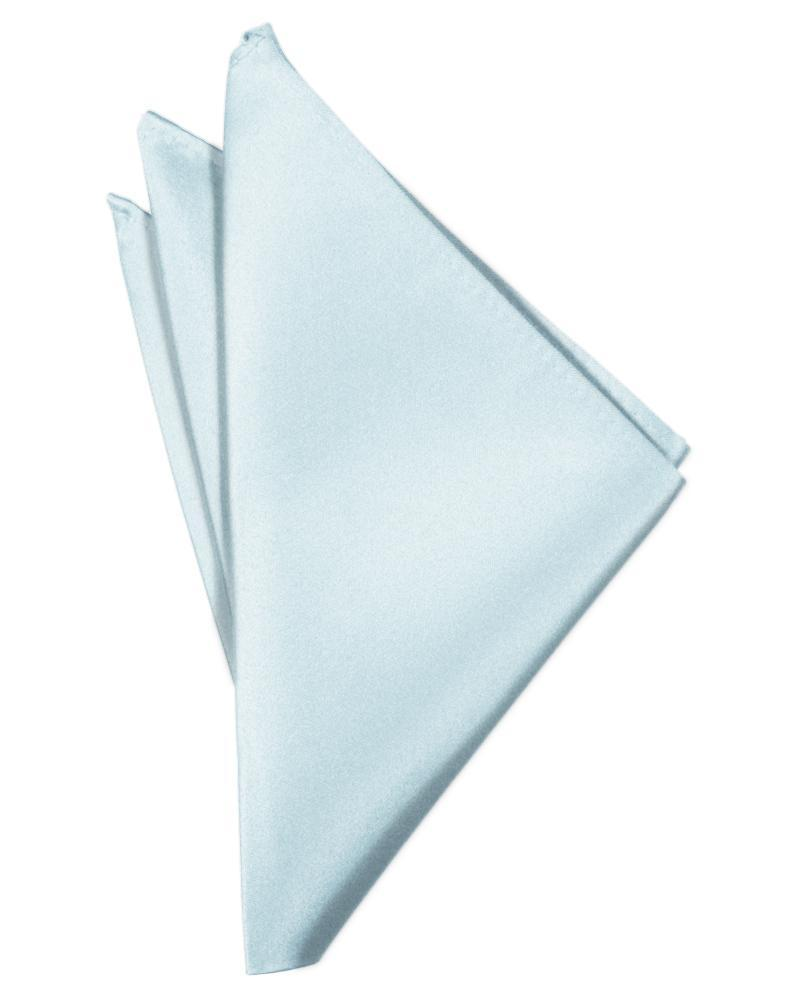 Light Blue Luxury Satin Pocket Square