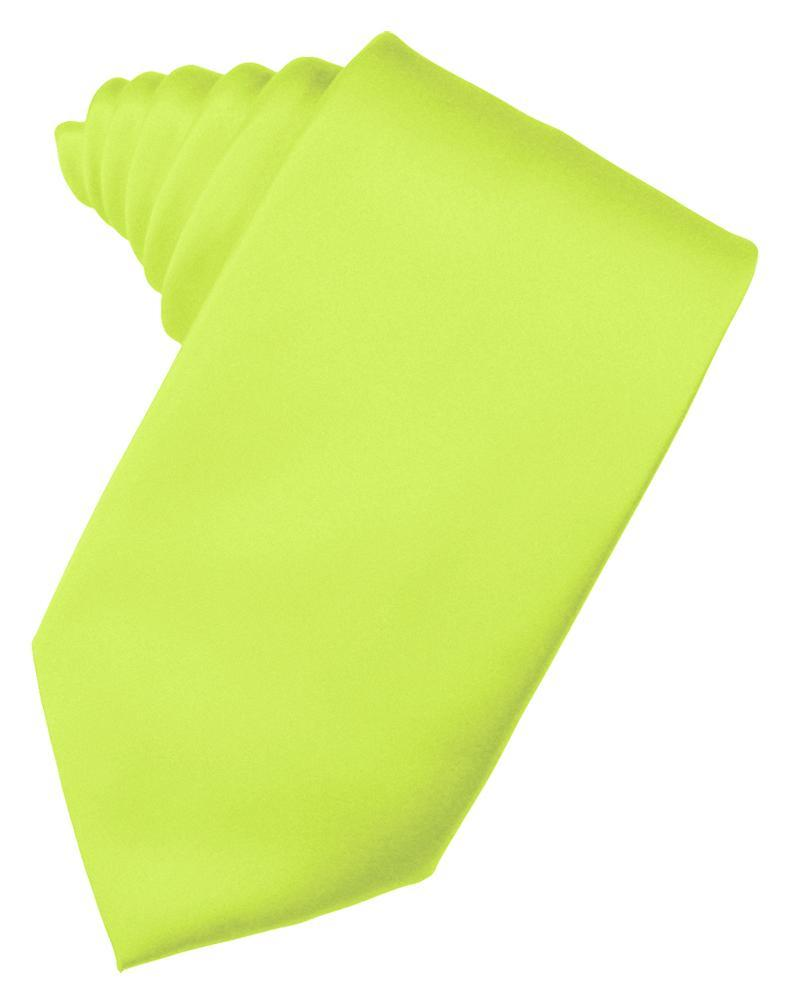 Lime Luxury Satin Necktie