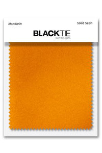 Mandarin Luxury Satin Fabric Swatch