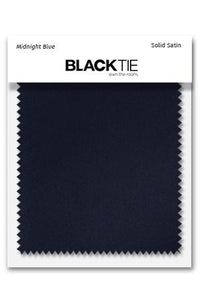 Midnight Luxury Satin Fabric Swatch