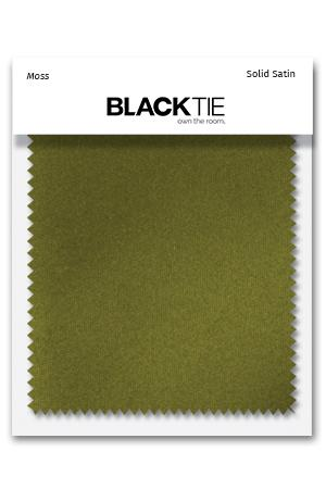 Moss Luxury Satin Fabric Swatch