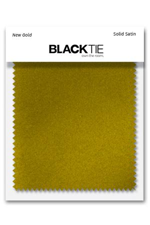 New Gold Luxury Satin Fabric Swatch