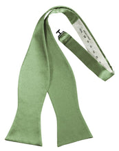 Sage Luxury Satin Bow Tie